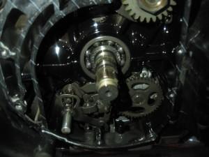 XJR400クラッチケース内