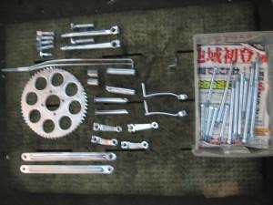 TS90ハスラー小物類の再メッキ