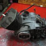 TS90ハスラーバラシ前のエンジン