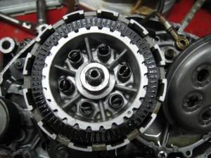 TS90ハスラーエンジンクラッチ廻り