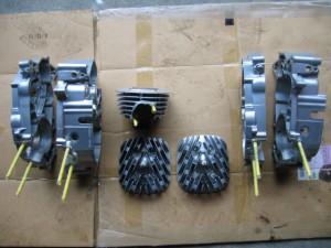 TS90ハスラークランクケースウエットブラスト処理