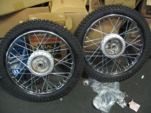 TS90ハスラータイヤ組み上がり