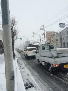 大阪府和泉市雪景色!