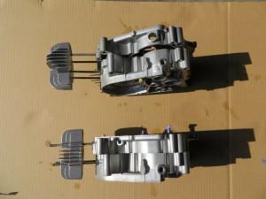JT1/JT60 クランクケース・シリンダーヘッド ウエットブラスト処理