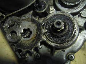 JT1 エンジン分解 スプロケット取り外し