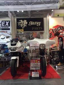 大阪モーターサイクルショーギャングパーツブース